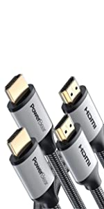 PowerBear HDMI Cable 6 Feet 2 Pack