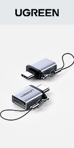 UGREEN USB C Adapter Type C Male to USB 3.0 A Female OTG Connector