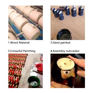 wooden nutcrackers process