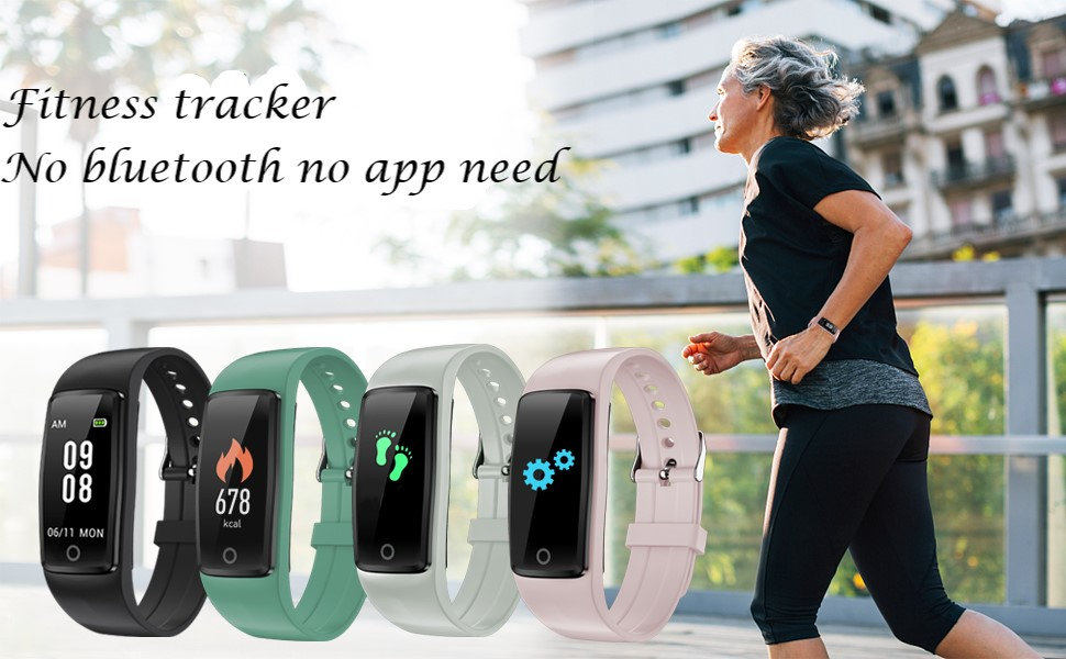 fitness tracker no bluetooth