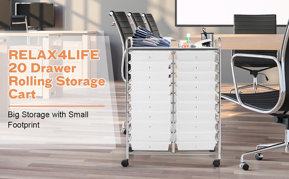 20 Drawers Storage Cart
