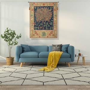 Pastel Tree Of Life Belgian Tapestry Wall Hanging