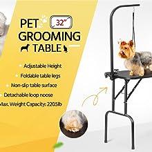 Pet Grooming Table