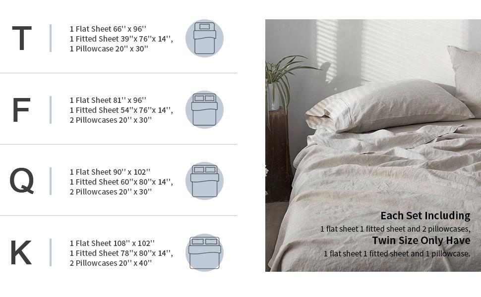linen sheet size