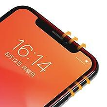 iPhone Xs Max 全面保護 ラウンドエッジ