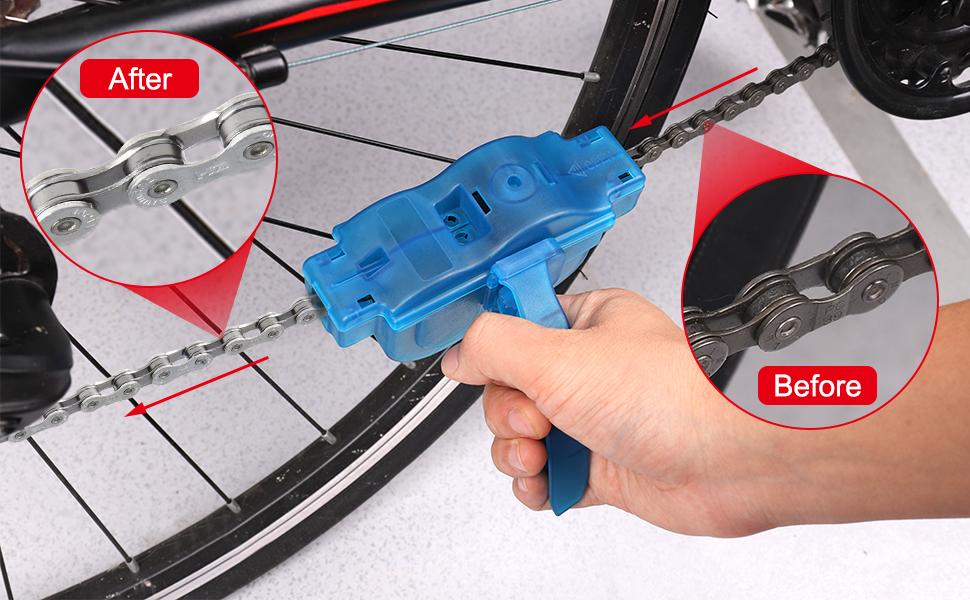 SKYSPER Limpiador de Cadena de Bicicleta Bici Lavador para ...
