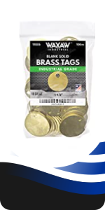 Brass Tags Chits round circular marking tags stamping 1.50 inch