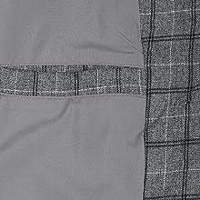 Lars Amadeus Men Dress Plaid Blazer One Button Slim Fit Checked Suit Sport Coat Jacket