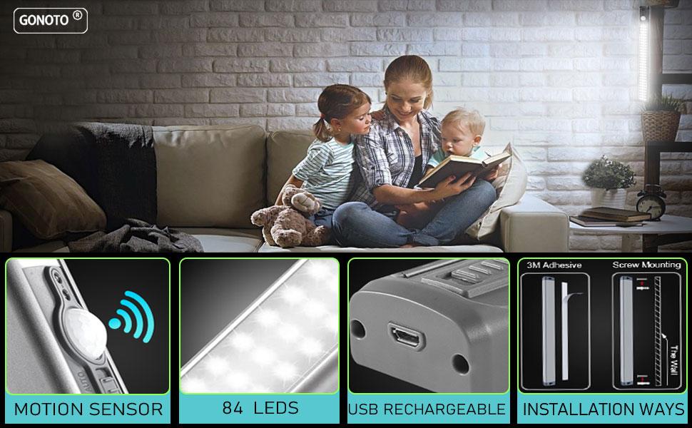 led closet light rechargeable motion sensor light