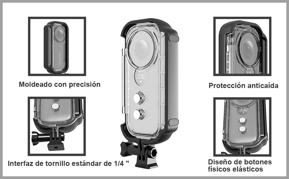 Owoda Nueva Versión Insta360 One X Carcasa Impermeable Estuche Buceo para Accesorios de la Cámara Acción Insta360 One X (Transparente): Amazon.es: Electrónica