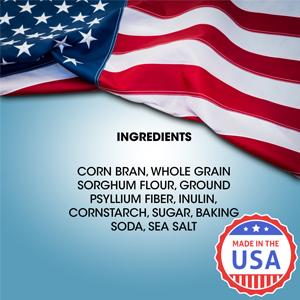 corn bran, whole grain, sorghum flour, psyllium fiber, inulin cornstarch