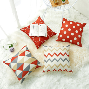 red pillow covers b