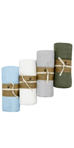 Soft Swaddle Blankets Sets Organic Baby Receiving Blankets Muslin Baby Wraps Sets