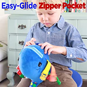toddler activity board Montessori buckle travel zipper therapy skills colors teaching preschool