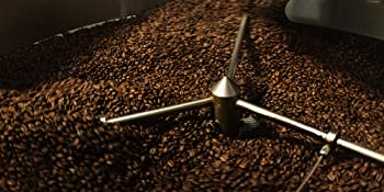 Coffee beans in roaster