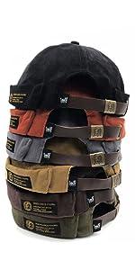 Zegoo Beanie Corduroy Docker Brimless Hat Rolled Cuff Harbour Hat