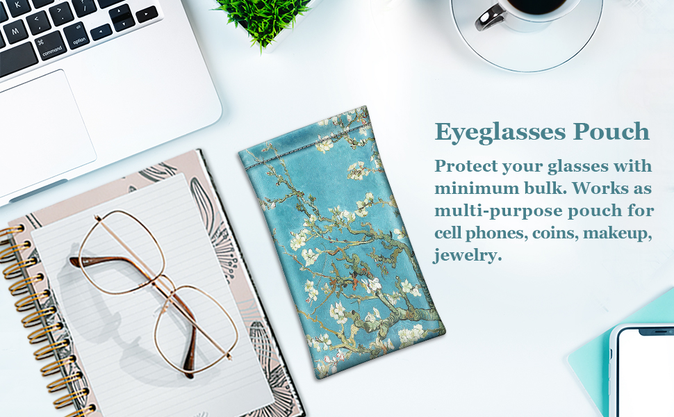 Fintie Eyeglasses Pouch with Cleaning Cloth