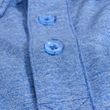 Button placket with reinforced bottom.