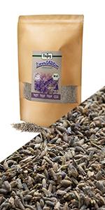 lavendel bloem bloemknoppen gedroogd geheel stengels thee infusie lavanda aromatisch aromatherapie