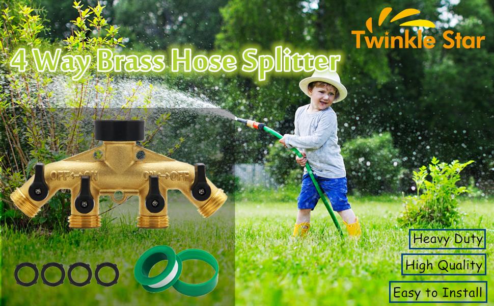 4 way hose splitter