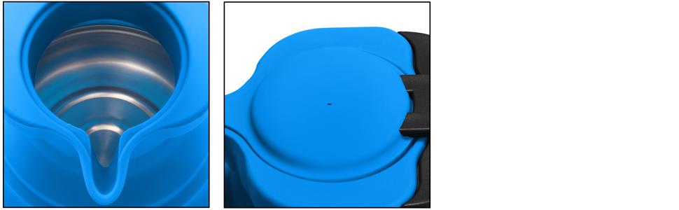 al aire Libre Camping viaje Caldera HULISEN Port/átil de Silicona Plegable Caldera Azul 1.5L con libre Gift-silicone Embudo