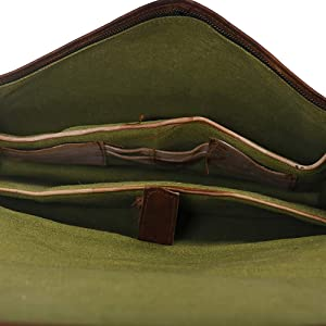 olive green lining