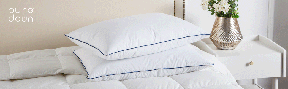 puredown Down Feather Bed Pillows for Sleeping
