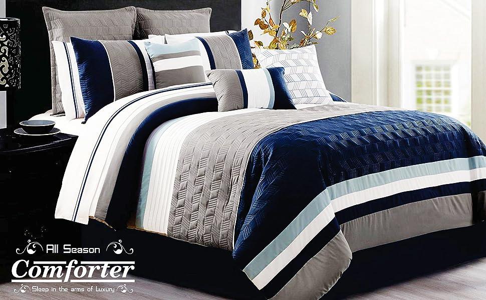 Urban Basics Ultra Soft Microfiber Reversible Double Bed King Size Comforter For Home & Bedroom