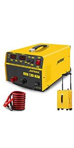 12V/24V Vehicle Jump Starter 400A, Car Battery Charger Adapter 20A Lead-Acid Batteries Charging