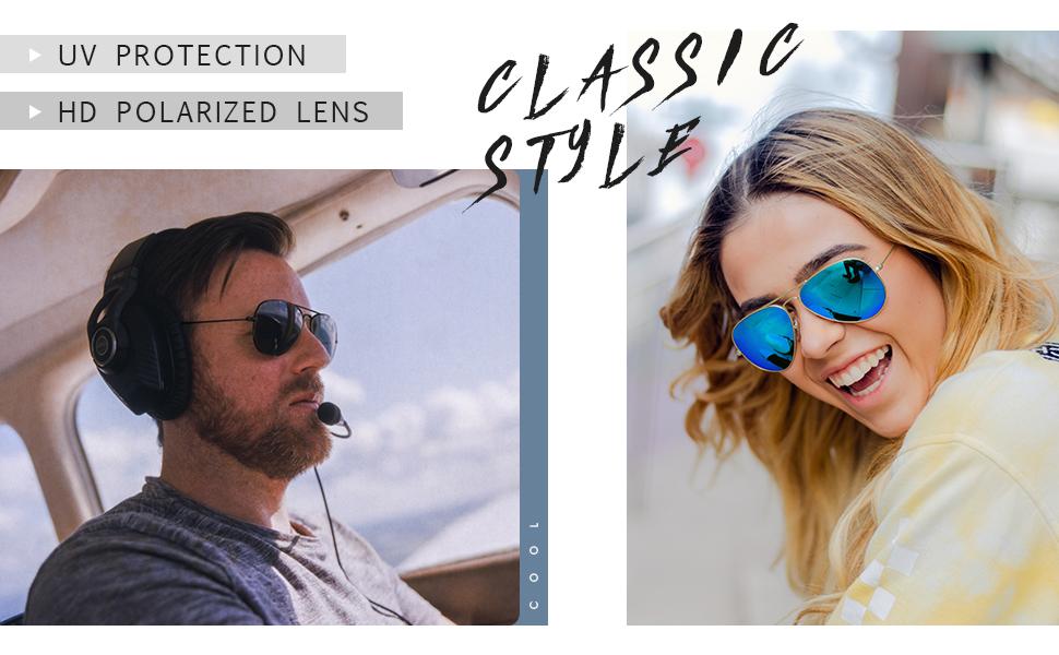 Joopin Classic Designer Sunglasses Polarized