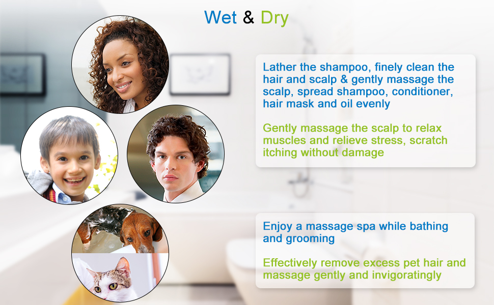 Gently massage the scalp to relax muscles and relieve stress, scratch itching without damage