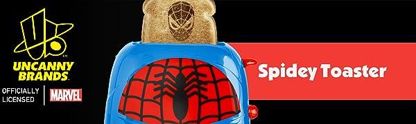 B07Z8D73RC Spiderman Uncanny Brands Toaster Banner