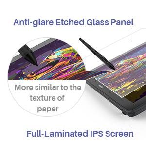 Anti-glare etched glass panel