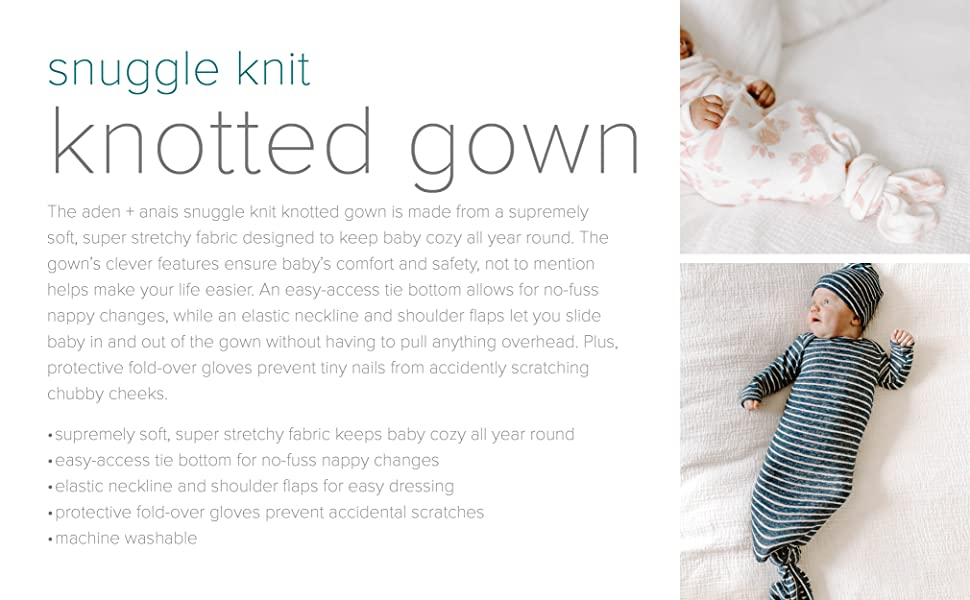 snuggle knit knotted gown