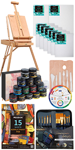 MEEDEN Great Deluxe Value Acrylic Painting Kit
