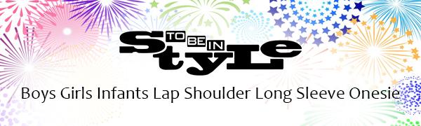 boy girl infants lap shoulder long sleeve onesie