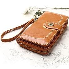 brown wallets