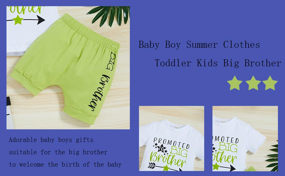 baby boy shorts set big brother clothes