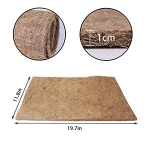 Reptile Carpet Mat Lizard Natural Coconut Fiber Liner Pads Pet Terrarium Supplies
