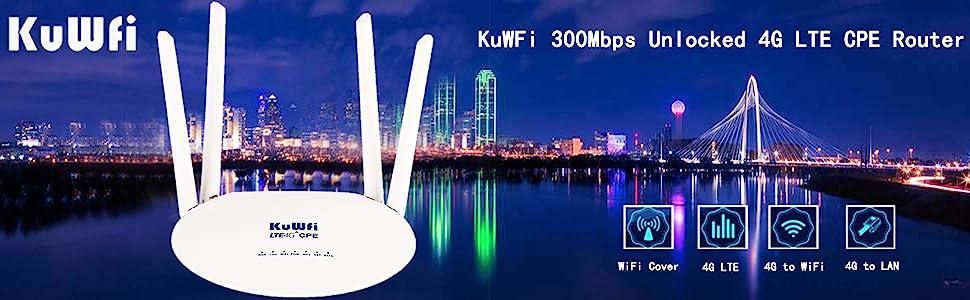 KuWFi Router 4G LTE Cat6
