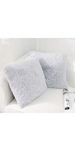 Light Grey 18*18 throw pillow covers