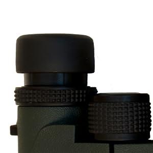 Levenhuk Karma PRO Binoculars: diopter adjustment ring, central focusing mechanism