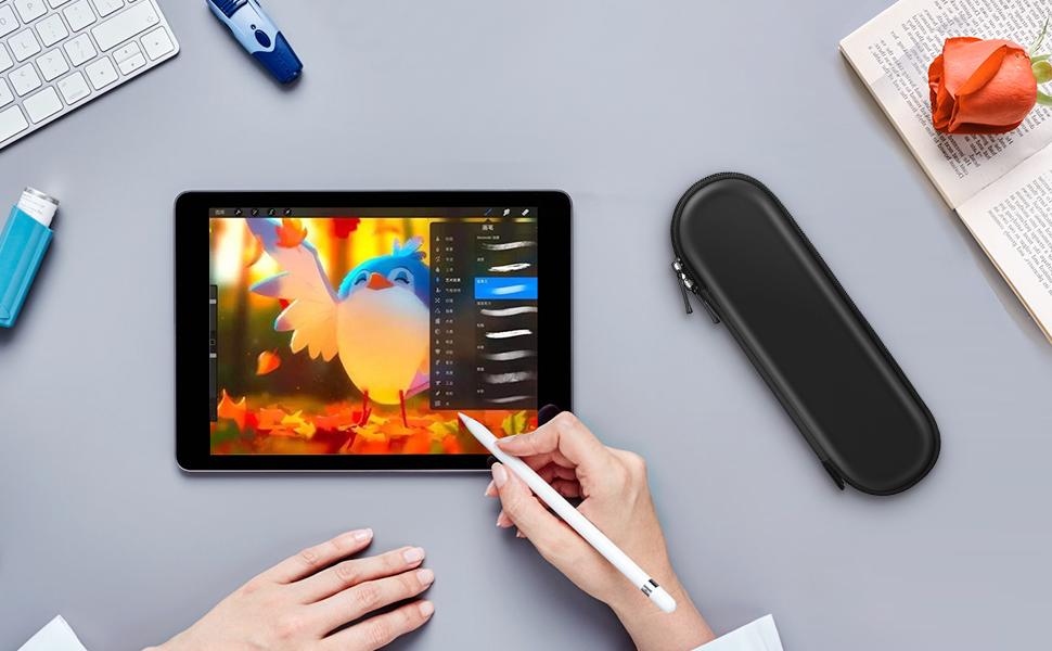 iPad Pro 12.9 2015//2017 Accesorios de l/ápiz Gris iPad Pro 10.5 ACOCOBUY Apple Pencil Funda Funda Protectora de Cuero PU Premium con Soporte para Apple iPad 9.7 2018 iPad Pro 9.7