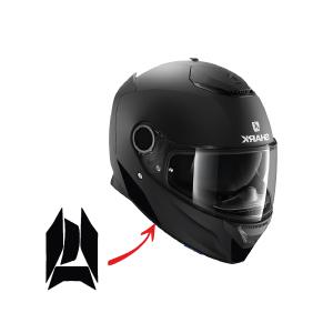 Vfluo Spartan Kit 4 Reflektierende Aufkleber Shark Spartan Kompatibel Mit Allen Motorradhelmen 3m Technology Schwarz Auto