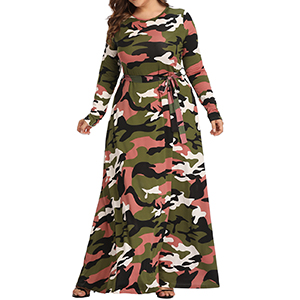 Camouflage Maxi Skirt Please Request size Based on Size Chart in Pictures