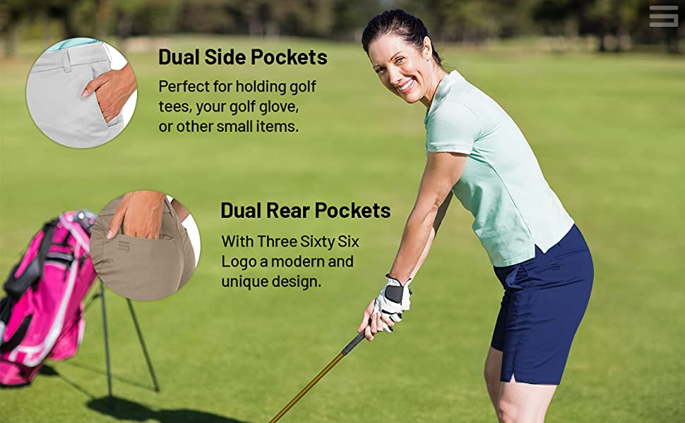 Dual side and rear pockets for convenience and storage.