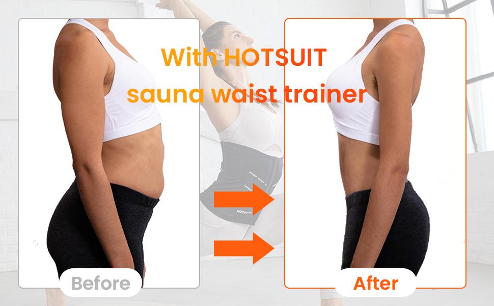 sauna waist trimmer weight loss tummy control
