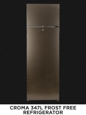 Croma 347 L 2 Star (2020) Frost Free Double Door Refrigerator (Silver, CRAR2404)