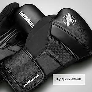 A pair of Black Hayabusa T3 Boxing Gloves