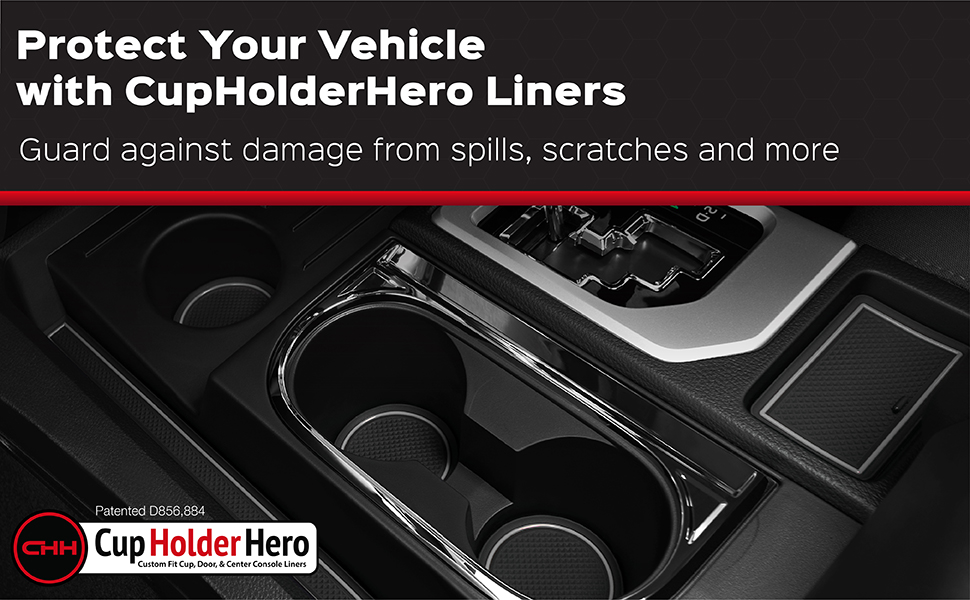Cup holder liner for a car